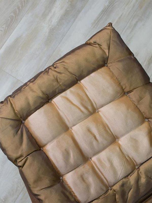 Μαξιλάρι καρέκλας σατέν Brown
