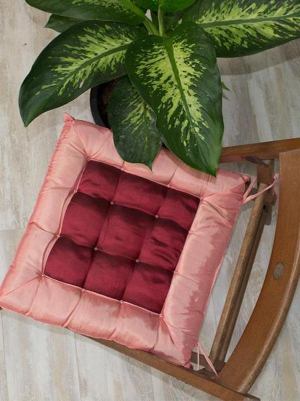 Μαξιλάρι καρέκλας σατέν Pink