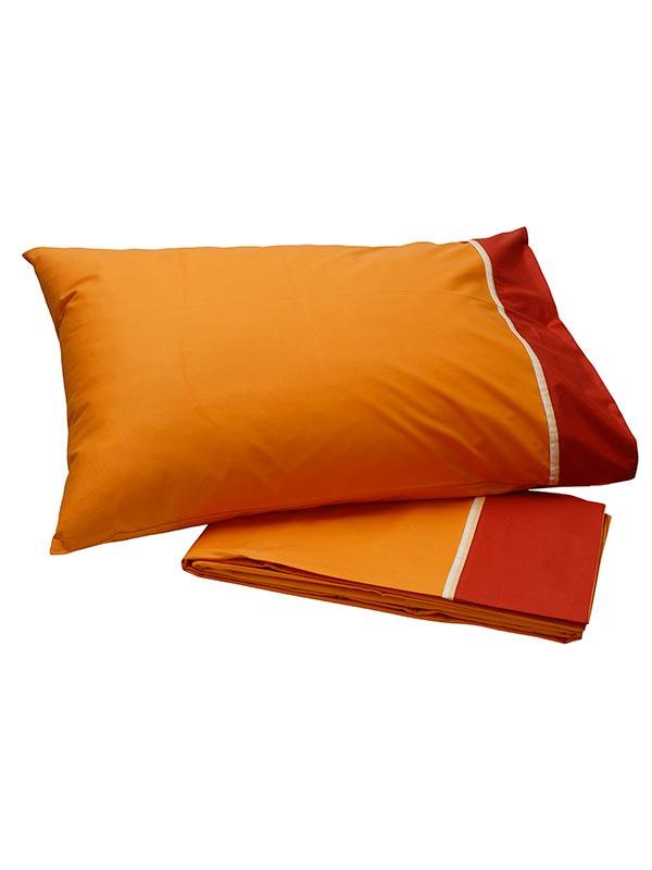 Σετ Σεντόνια Percale Orange
