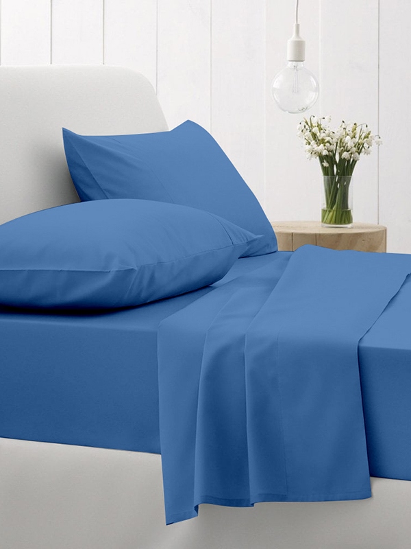 Κατωσέντονο Cotton Feelings με λάστιχο 104 Blue