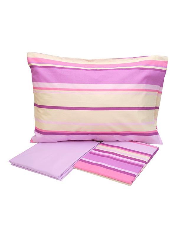 Σετ Σεντόνια Cotton Feelings εμπριμέ 1214 Pink