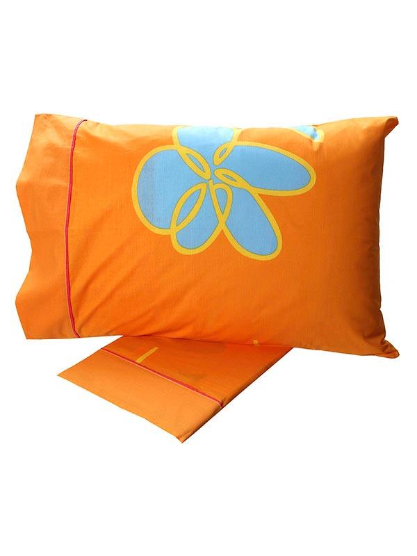 Σετ Σεντόνια Cotton Feelings εμπριμέ 129 Orange