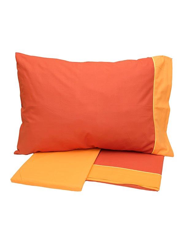 Σετ Σεντόνια Cotton Feelings εμπριμέ 2219 Orange
