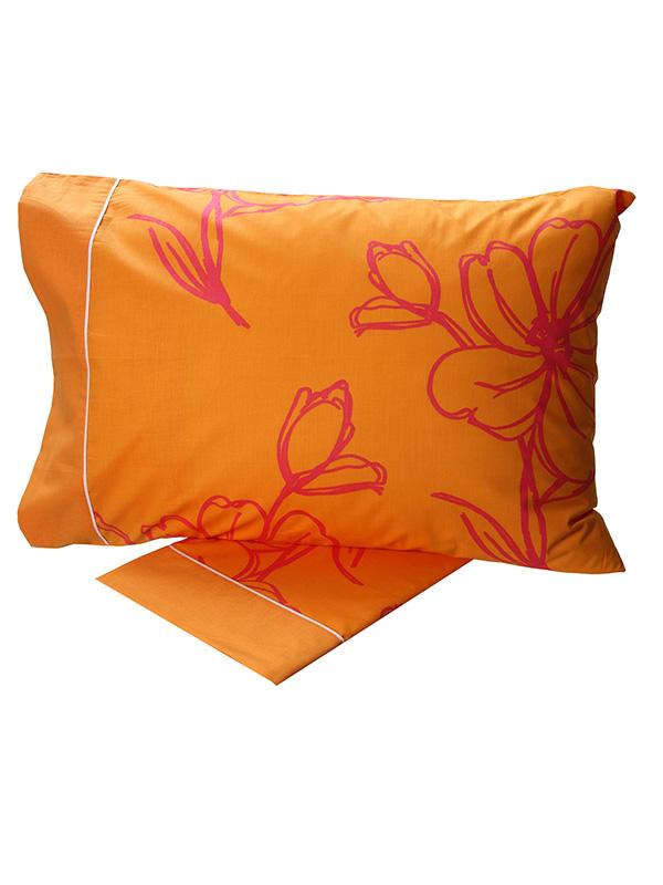 Σετ Σεντόνια Cotton Feelings εμπριμέ 537 Orange