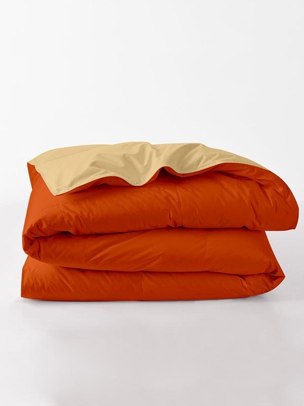 Πάπλωμα περκάλ μονόχρωμο Orange
