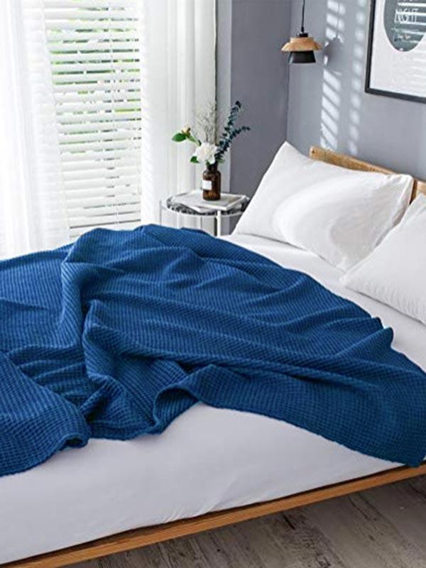 Κουβέρτα Eliot πικέ Blue