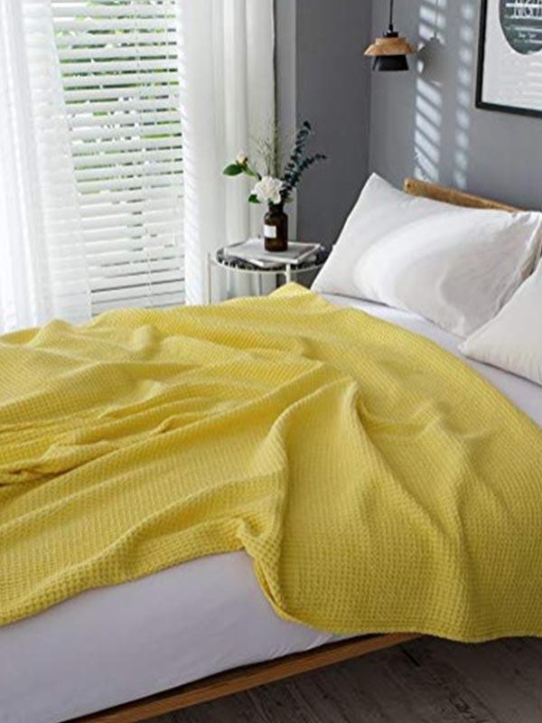 Κουβέρτα Eliot πικέ Yellow