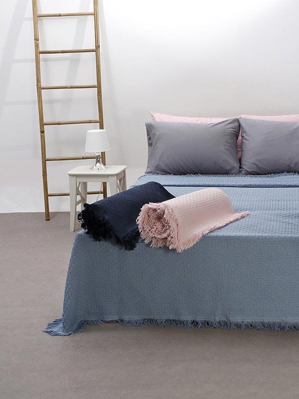 Κουβέρτα καναπέ βαμβακερή