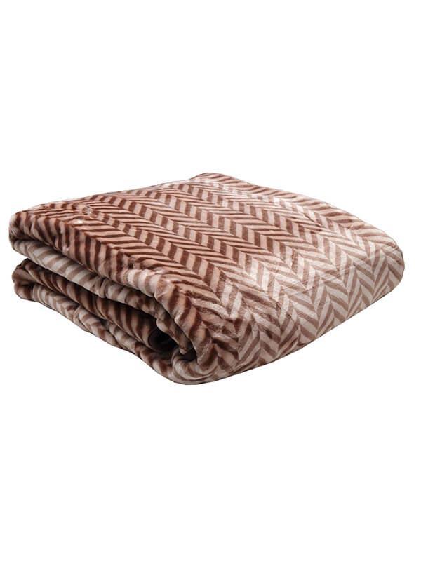 Κουβέρτα βελούδινη ζακάρ Bro...