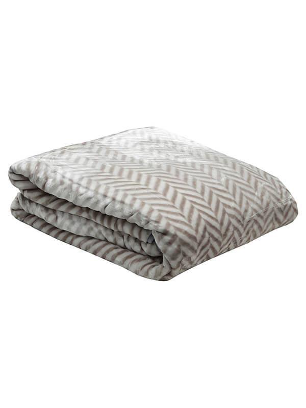 Κουβέρτα βελούδινη ζακάρ Gre...