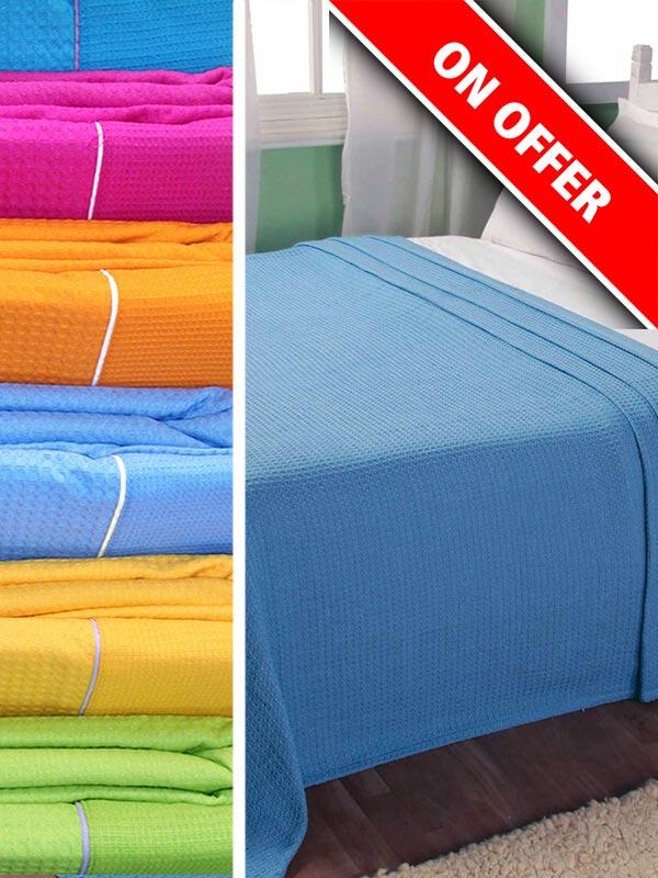 Κουβέρτα πικέ colors Fuchsia