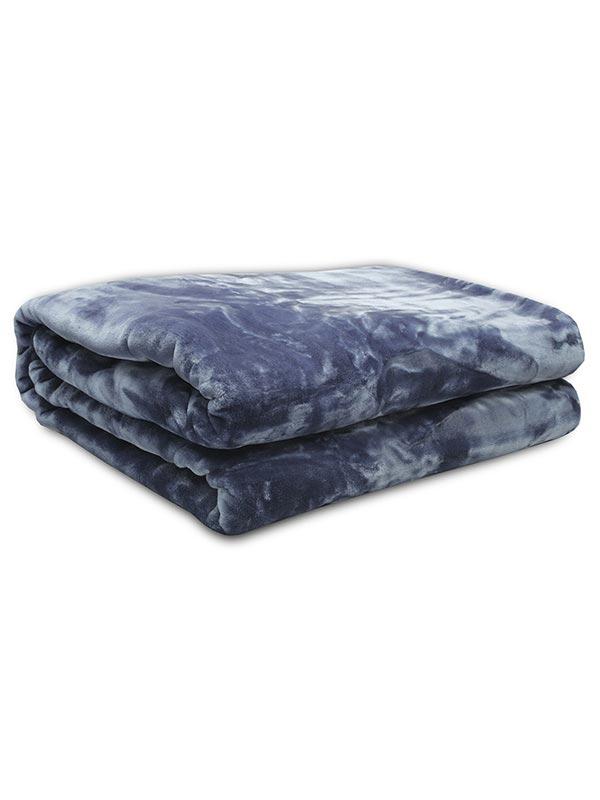 Κουβέρτα βελούδινη Iris Blue