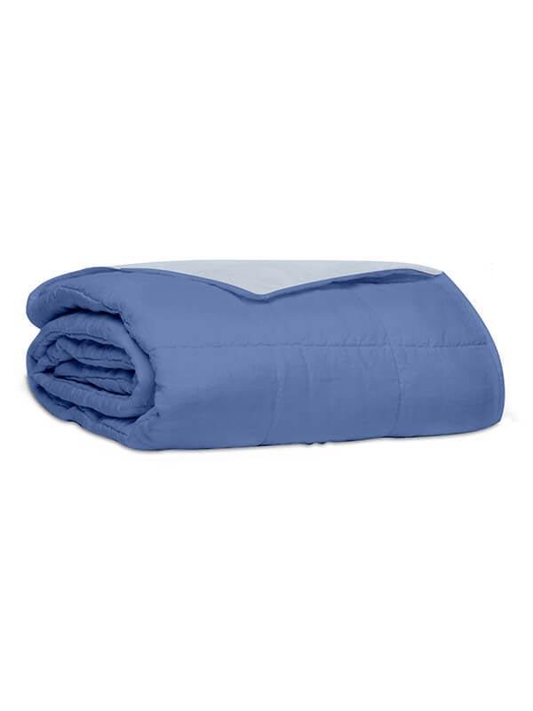 Κουβερλί percale μονόχρωμο Blue