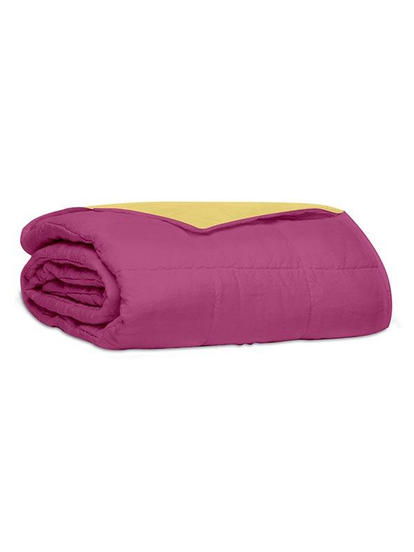 Κουβερλί percale μονόχρωμο Pink