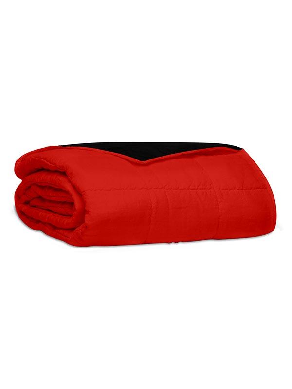 Κουβερλί percale μονόχρωμο Red