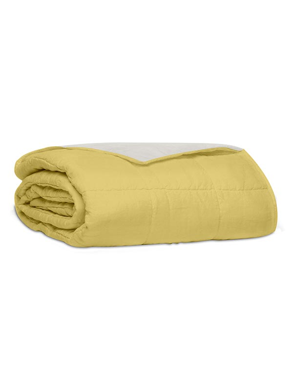 Κουβερλί percale μονόχρωμο Yellow