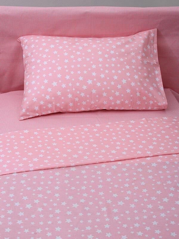 Σετ σεντόνια Cotton Feelings κούνιας Pink
