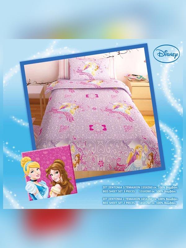 Σετ σεντόνια Disney Princess Lilac