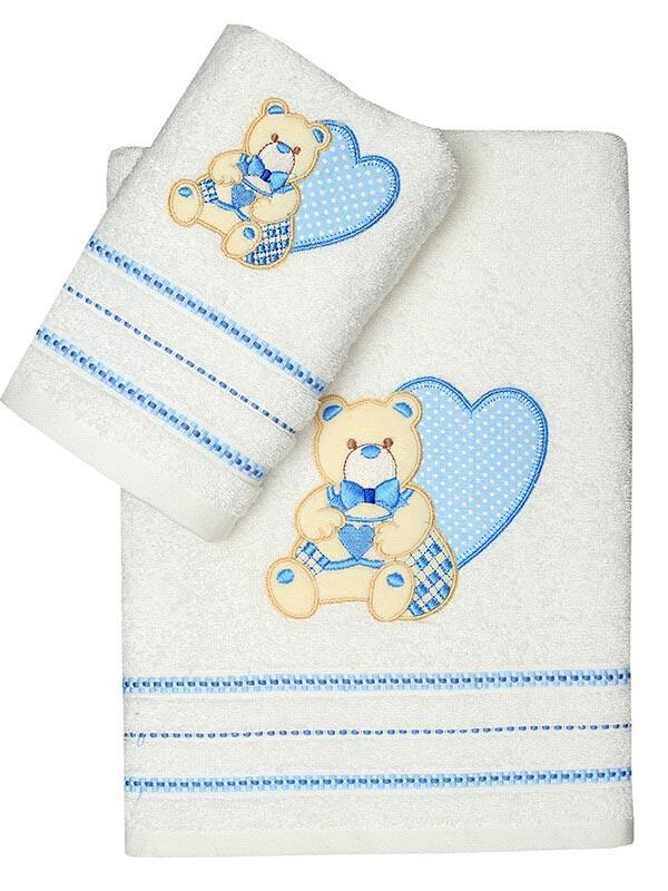 Σετ πετσέτες κεντητές Heart 01 ...