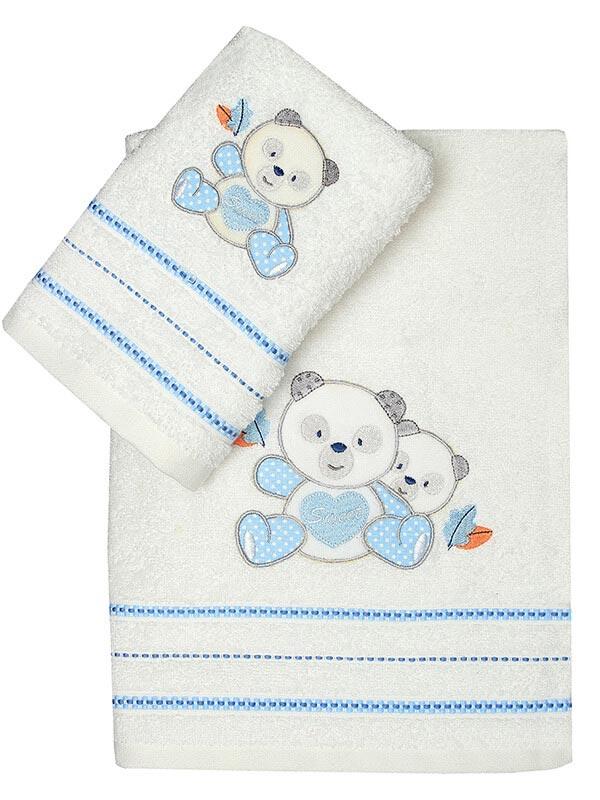Σετ πετσέτες κεντητές Panda 02 ...
