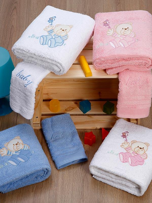 Σετ πετσέτες κεντητές Bear 04 B...
