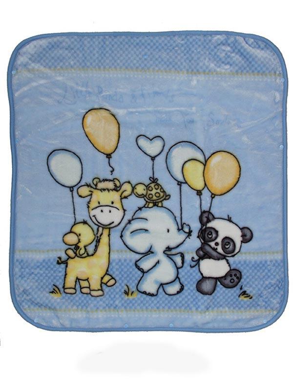 Κουβέρτα βελουτέ αγκαλιάς 800 Blue