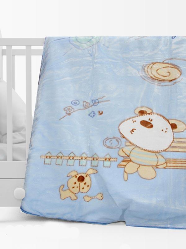Κουβέρτα βελουτέ κούνιας 1000 Blue
