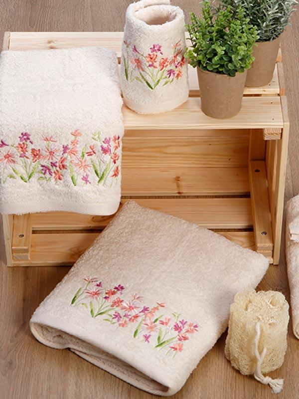 Σετ πετσέτες κεντητές 20 Ecru