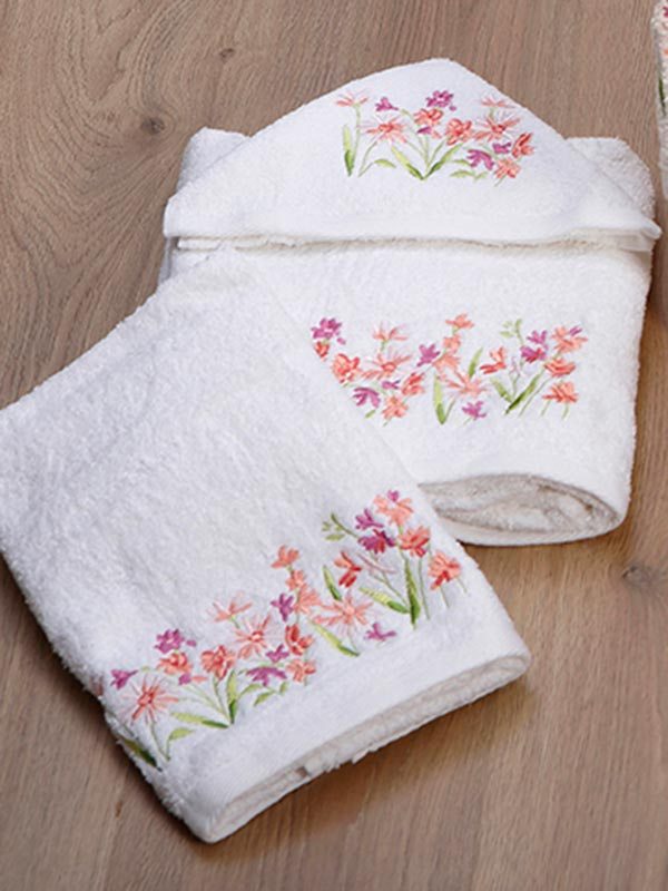 Σετ πετσέτες κεντητές 20 White