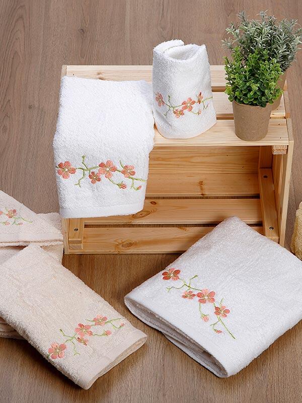 Σετ πετσέτες κεντητές 22 White
