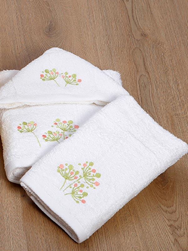 Σετ πετσέτες κεντητές 24 White