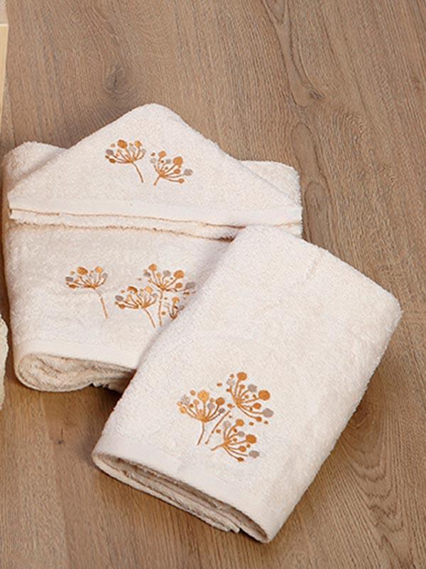Σετ πετσέτες κεντητές 26 Ecru
