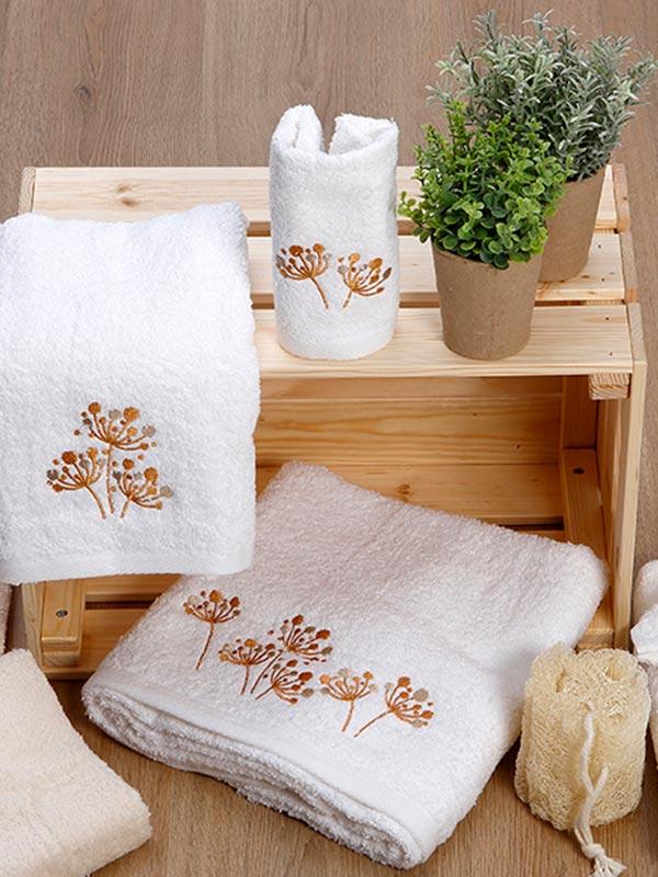 Σετ πετσέτες κεντητές 26 White