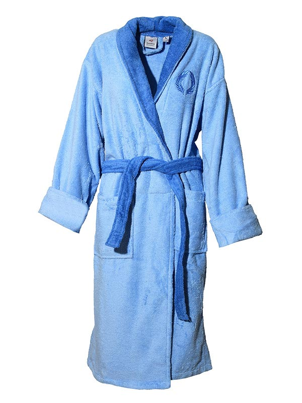 Mπουρνούζι κεντητό Blue