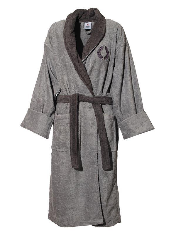 Mπουρνούζι κεντητό Grey