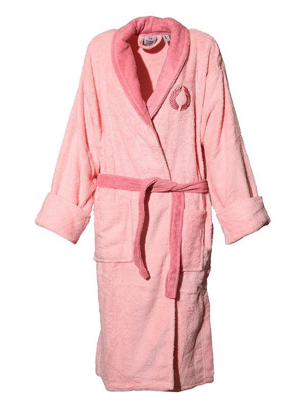 Mπουρνούζι κεντητό Pink