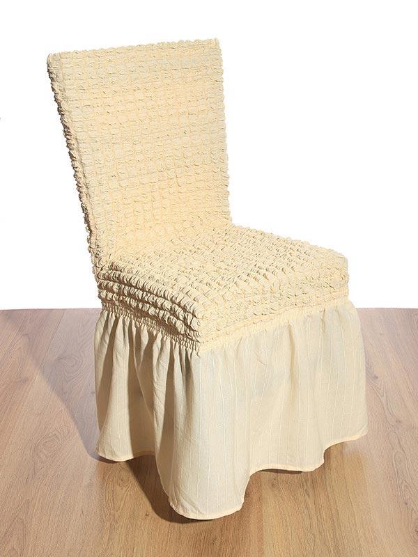 Κάλυμμα καρέκλας γκοφρέ Ecru
