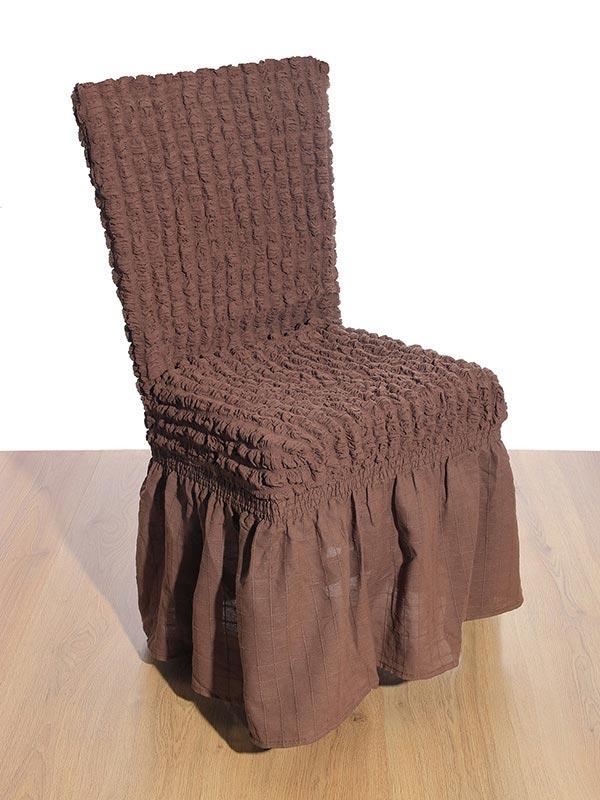 Κάλυμμα καρέκλας γκοφρέ Brown