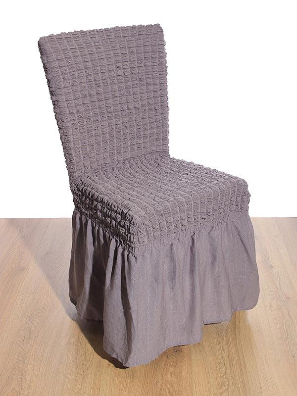 Κάλυμμα καρέκλας γκοφρέ Grey