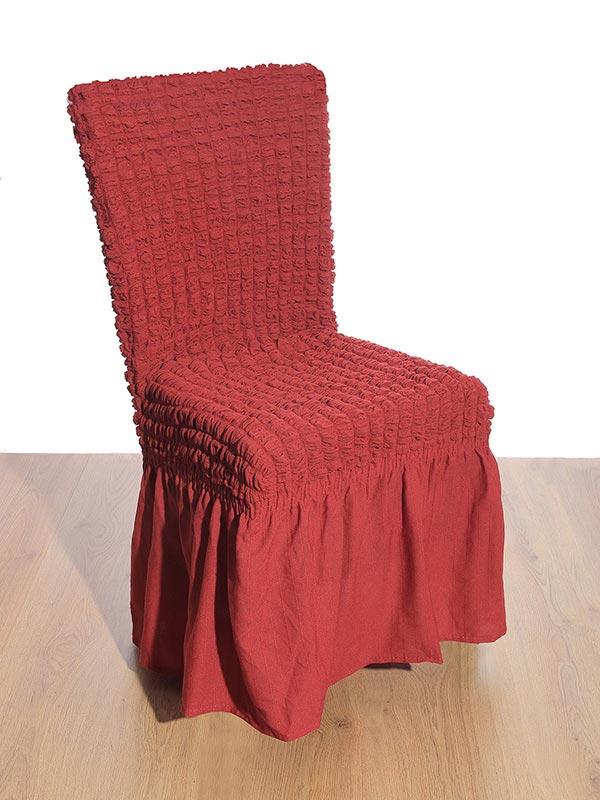 Κάλυμμα καρέκλας γκοφρέ red